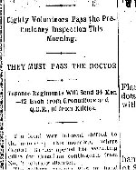 Newspaper Clipping– First section of a clipping from the Toronto Star for 20 October 1899 referring to J.H. Findlay's enlistment.