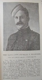 """Photo of Charles Harrison– This photo is from the book """"Our Boys Under Fire"""" by Mellish. Photo courtesy of Thomas L. Skelding"""