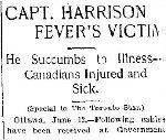 Newspaper Clipping– Source: Toronto Star 12 June 1900.