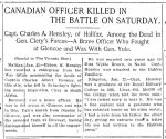 Newspaper Clipping– From the Toronto Star for 22 January 1900.