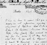 Letter– Letter written 14 September 1900 on behalf of his family requesting information about the death of Bernard Hunt.