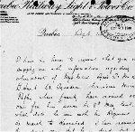 Lettre – Lettre rédigée le 14 septembre 1900 au nom de la famille de Bernard Hunt, demandant des renseignements sur sa mort