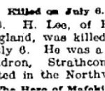 Newspaper Clipping– From the Renfrew Mercury for 14 September 1900.