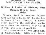 Newspaper Clipping– From the Toronto Star for 19 April 1902, page 17.