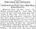 Newspaper Clipping– From the Toronto Star for 22 February 1900.