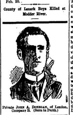 Newspaper Clipping– From the Perth Courier for 2 March 1900.