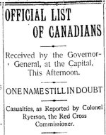 Newspaper Clipping– Clipping from the Toronto Star for 26 February 1900.