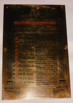 Memorial Plaque– Cathedral of the Redeemer, Calgary Alberta