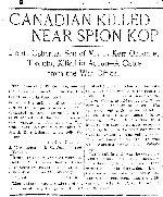 Coupre de presse – Tiré du Toronto Star du 26 janvier 1900.