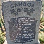 Memorial at Vendusiedrift, Paardeberg, South Africa