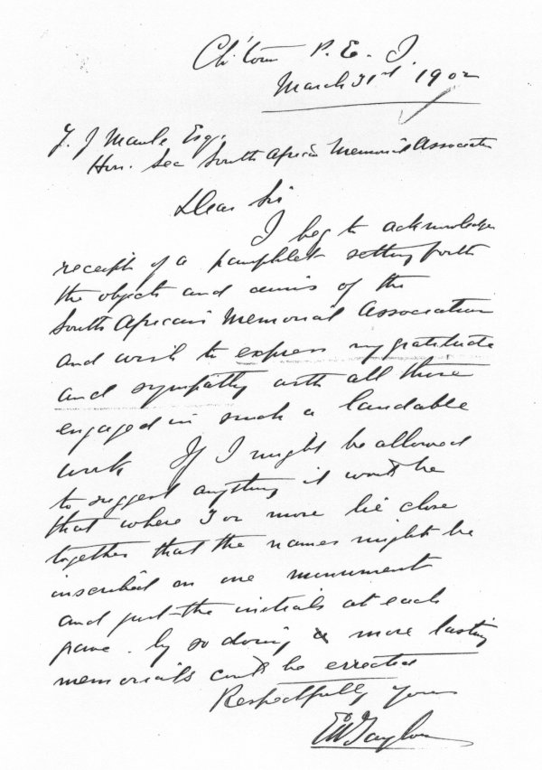 Letter - March 31, 1902