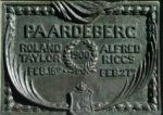Monument Plaque– Photo of the plaque on the Boer War monument in Charlottetown.