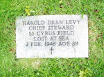 Commemorative Marker– Commemorative Marker for Harold Dean Levy Fairview Lawn Cemetery, Halifax, Nova Scotia Grave site of mother Alice Levy 1862-1958 Section 5F, Row A, Lot 15