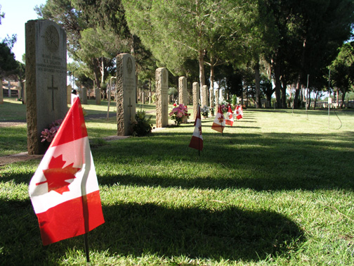 Gravemarker and the Canadian Flag