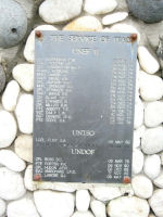 Inscription– UNDOF Memorial: CFSCE Museum,CFB Kingston, Ontario.  Courtesy of Canadian Forces Joint Signal Regiment