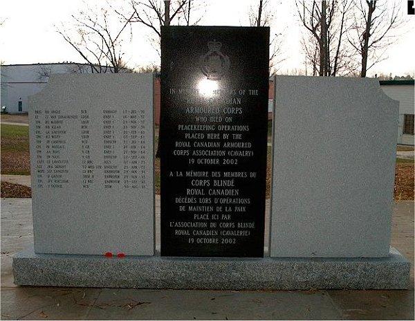 Monument commémoratif de guerre de Camp Borden