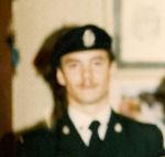 Photo de Groupe – David (à l'arrière) est photographié avec son frère Christopher.