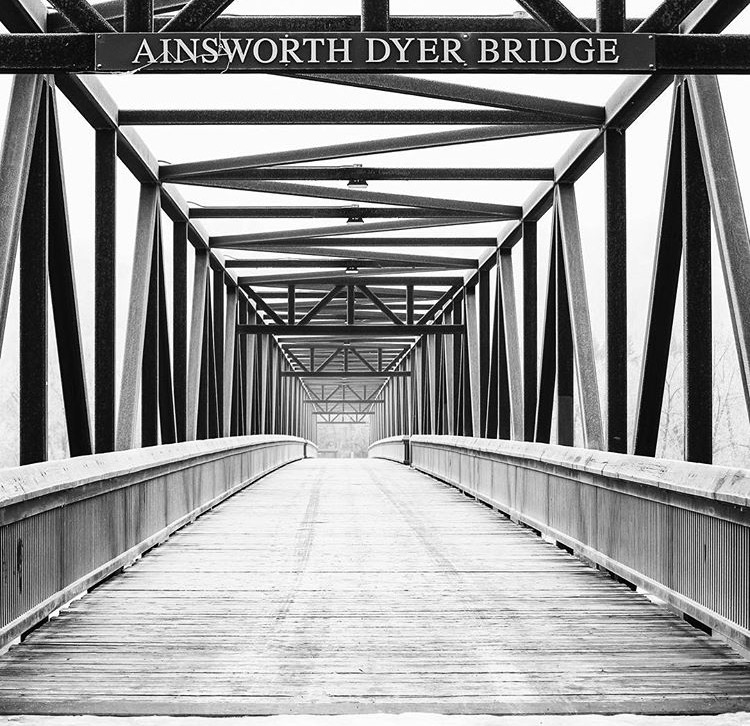 Memorial– A bridge in Edmonton's river valley dedicated to Ainsworth Dyer.