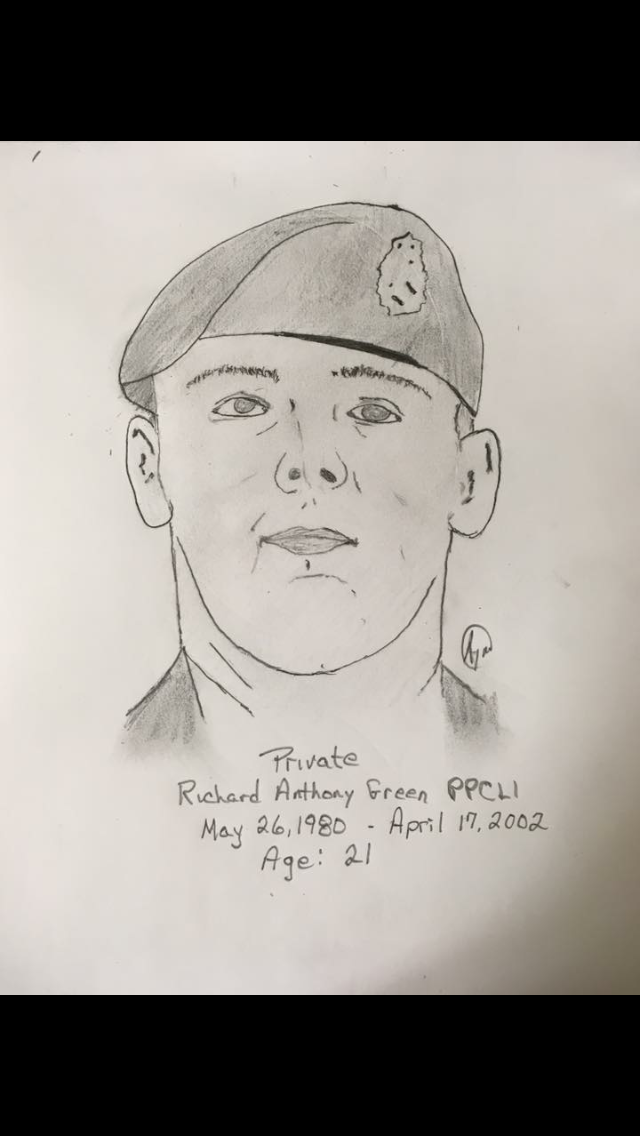 Personal sketch of fallen comrade