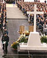 Memorial Service– Cpl Robbie Beerenfenger and Sgt Robert Short were honoured during a community memorial service held October 7 at The Pembroke Memorial Centre, Pembroke Ont. Source DND site
