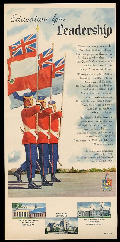 Pamphlet– Edward Ronald Bade served as a cadet at Royal Roads Military College and Royal Military College of Canada, graduating in 1969.