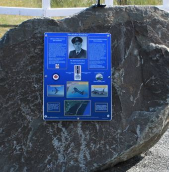 Memorial– Monument located on Ile aux foins, Neguac, New-Brunswick