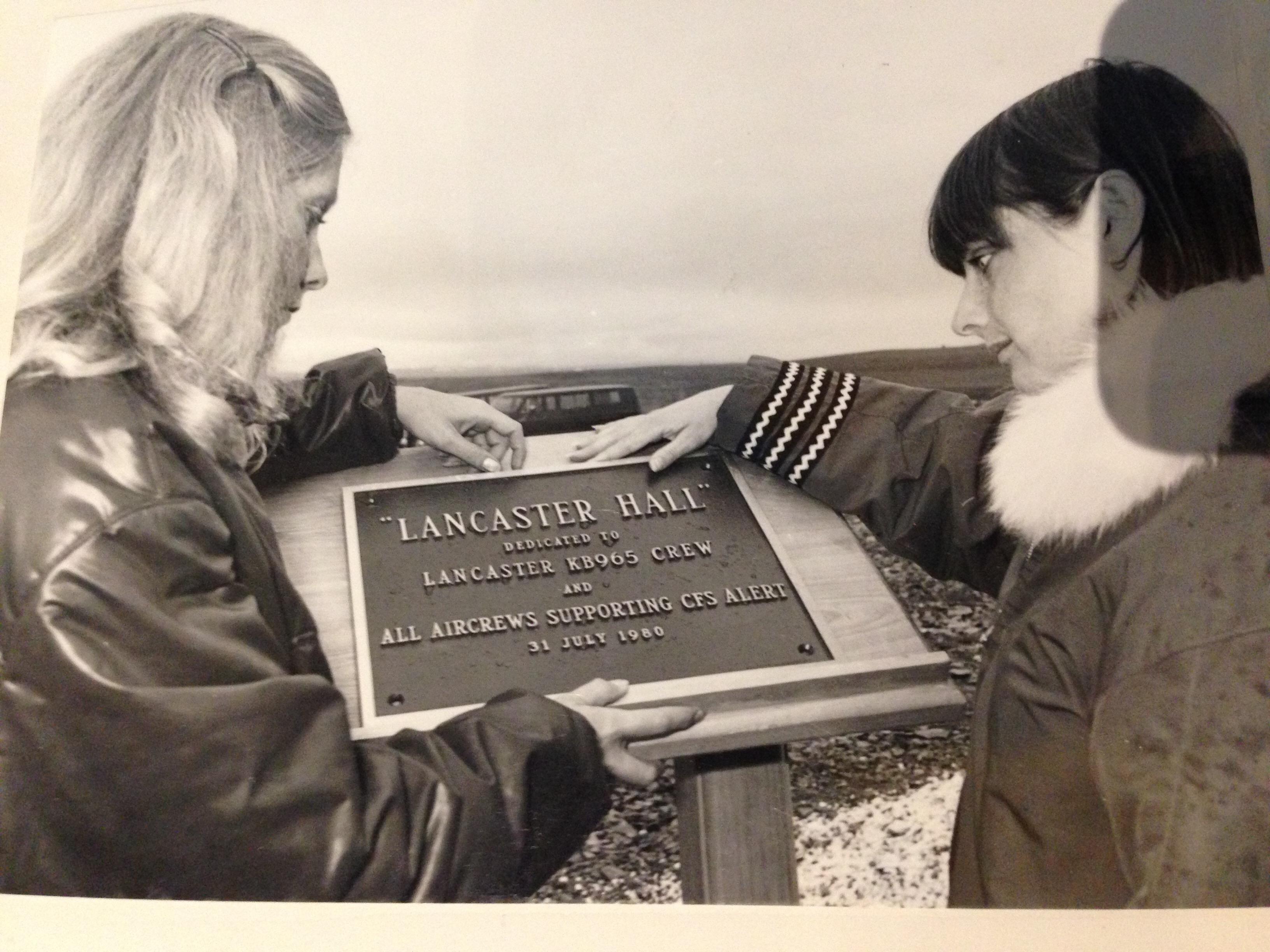 Memorial– Memorial erected at crash site on 31 July 1980.