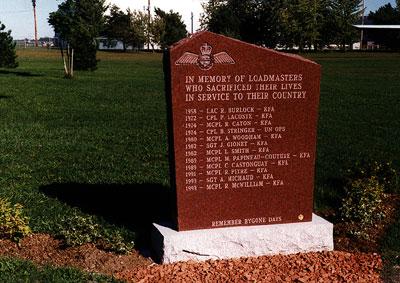 Loadmasters Memorial RCAF Memorial Museum, Trenton