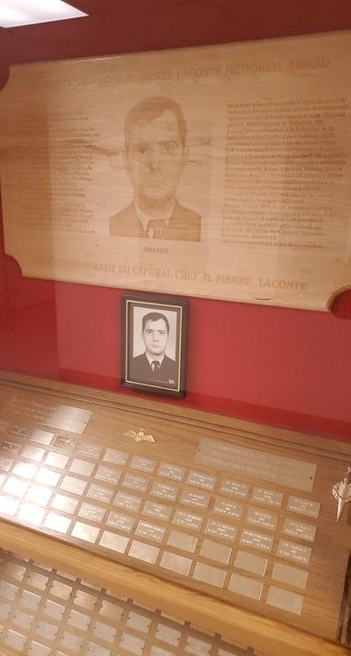 Memorial– CFB Borden Traffic Tech QL3 top student award in memory of MCpl Lacoste