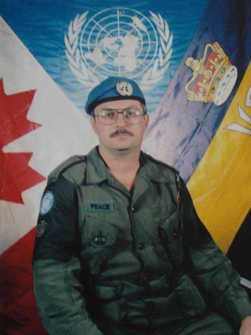 Photo of JOHN MICHAEL PEACE– NATO/Regimental Colours