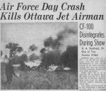 Newspaper clipping– News article from the Ottawa Journal about the death of Flying Officer Douglas Alfred Sheffield.