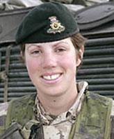 Photo de Nichola Kathleen Sarah Goddard – Capitaine Nichola Goddard, qui a servi dans le Princess Patricia's Canadian Light Infantry en Afghanistan, décédée lors d'une opération militaire contre des forces des Talibans. (Avec la  permission de la Défense nationale).