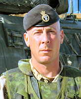 Photo of Christopher Jonathan Reid– Corporal Christopher Jonathan Reid of the 1st Battalion Princess Patricia's Canadian Light Infantry based in Edmonton was killed when his LAV III vehicle struck an improvised explosive device at 4:20 a.m. Kandahar time August 3, 2006. The incident occurred near the village of Pashmul located approximately 25 kilometres southwest of Kandahar City.