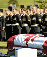 Funeral– An interment ceremony for Sergeant Shane Stachnik from 2 Combat Engineer Regiment was held at the National Military Cemetery in Ottawa Ontario on Sept 11, 2006. Sgt Stachnik died on September 3, 2006 in Afghanistan while engaged in an operation supporting Afghan authorities.  Photo by Master Corporal Jill Cooper, CFSU(O) Photo Services