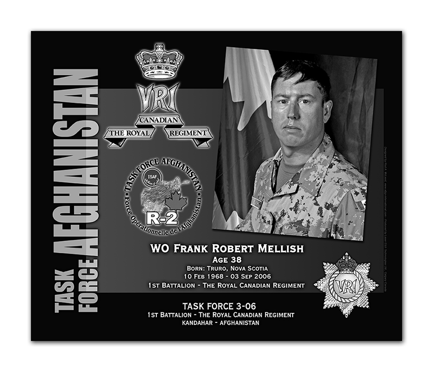 Plaque– This was the laser engraved granite plaque that we designed to mark the unfortunate passing of WO Mellish.  