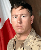 Photo of Frank Mellish– Warrant Officer Frank Robert Mellish, a member of 1st Battalion, The Royal Canadian Regiment, based in Petawawa, Ontario was killed on September 3, 2006 fighting against Taliban insurgents approximately 15 km west of Kandahar City.