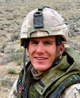 Photo of Andrew James Eykelenboom– Corporal Andrew James Eykelenboom was killed by a suicide bomber in a vehicle attack near the town of Spin Boldak, approximately 100 km southeast of Kandahar City.  Photo:  Canadian Forces Image Gallery
