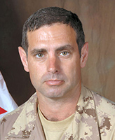 Photo of Robert Girouard– Chief Warrant Officer Robert Girouard, Regimental Sergeant Major of 1st Battalion Royal Canadian Regiment (1 RCR) Battle Group, based out of Petawawa, Ontario, was killed on 27 November 2006, when a suicide bomber drove an explosive laden vehicle into a Canadian Convoy. The resulting explosion killed Chief Warrant Officer Robert Girouard and Corporal Albert Storm of 1 RCR. At the time of the incident the convoy was travelling along Hwy 4, toward Kandahar city on its way to Panjwayi.  Photo: Canadian Forces Image Gallery