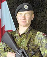 Photo de Kevin Megeney – Le Caporal Kevin Megeney, un Réserviste du 1er Bataillon Nova Scotia Highlanders.