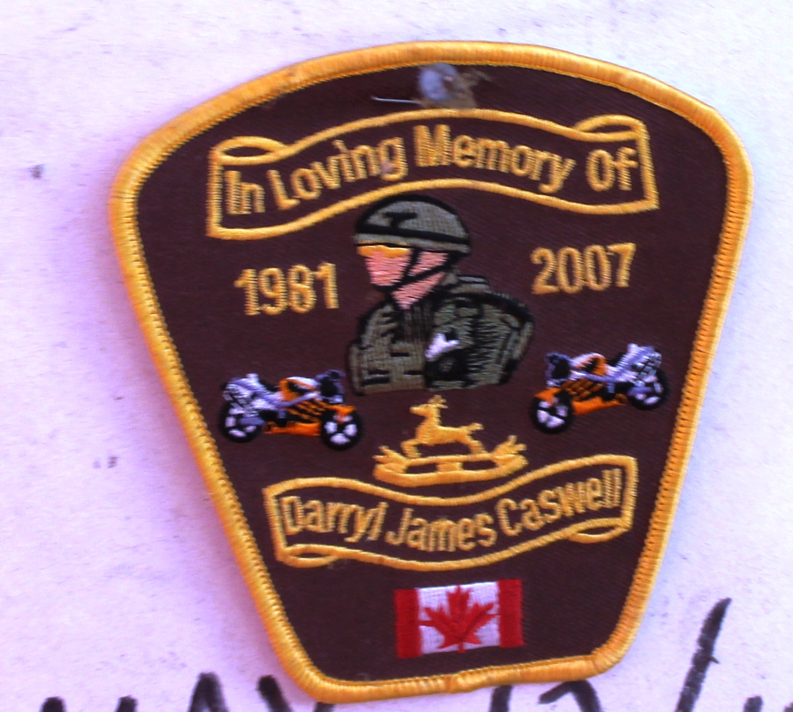 Memorial Badge– Observed during home inspection, 