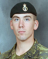 Photo of Joel Wiebe– Private Joel Vincent Wiebe, of Charlie Company, 3rd Battalion Princess Patricia's Canadian Light Infantry (3 PPCLI) from CFB Edmonton. Private Wiebe was one of three Canadian soldiers killed when the vehicle they were traveling in struck an improvised explosive device on the main road, approximately 6 km west of Forward Operating Base Sperwan-Gar. The incident occurred at approximately 7:49 am on June 20, 2007 while the soldiers were conducting resupply operations between checkpoints.  The Charlie Company, 3 PPCLI members are part of the 2nd Battalion Royal Canadian Regiment (2 RCR) Battle Group of the Joint Task Force Afghanistan (JTF-Afg).  Photo by: Private Tina Miller, CFB Edmonton, Garrison Imaging
