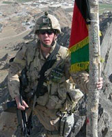 Photo of Joel Vincent Wiebe– Pte. Joel Vincent Wiebe in the Panjwai District Afghanistan, Spring 2007.