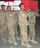 Ramp Ceremony– In the early hours of June 20, 2007, we received the terrible news Joel and two other soldiers had been killed by an IED. The following day, on what should have been Joel's 23rd Birthday, the RAMP Ceremony was held. June 21, 2007 at Kandahar Airfield (KAF).