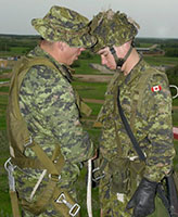 Group Photo– Pte. Joel Vincent Wiebe (on the right) during field exercises at Wainwright AB, 2005.