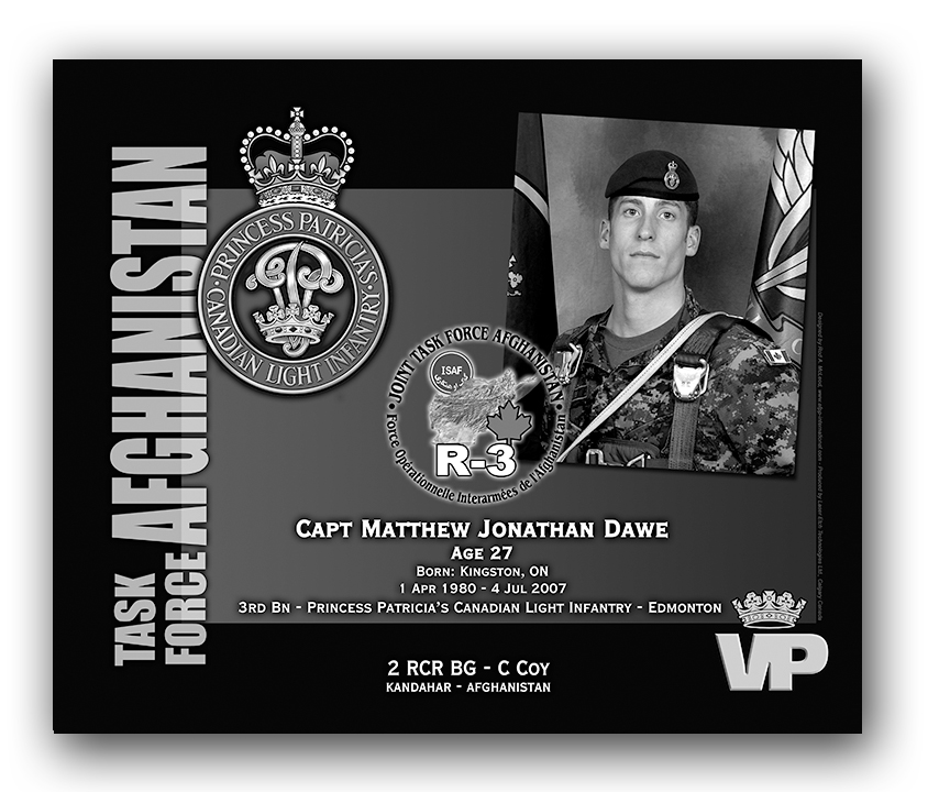 Plaque– This was the laser engraved granite plaque that we designed to mark the unfortunate passing of Capt Dawe.