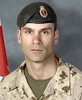 Photo of Christian Duchesne– MCpl Christian Duchesne was killed on 22 August, 2007 after the vehicle he was traveling in, a LAV III, struck a suspected mine. The incident occurred at 6:19 am Kandahar time, approximately 50 km West of Kandahar City during Operation EAGLE EYE, a joint Afghan National Security Force (ANSF) and ISAF operation aimed at further stabilizing the District of Zharey. MCpl Duchesne was a member of 5e Ambulance de campagne, based in Valcartier, Québec. Photo credit : Cpl Martin Long, Section d'imagerie Garnison Valcartier.
