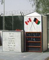 Kandahar Airfield Memorial– Kandahar, Afghanistan Photo submitted by Thomas L. Skelding
