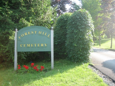 Entrance of Forest Hill Cemetery