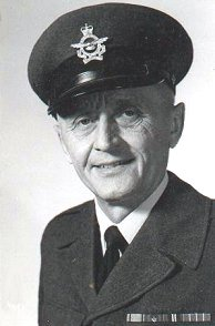 Photo of Walter Nakay– Photograph of F/Sgt Walter NAKAY, an RCAF firefighter.