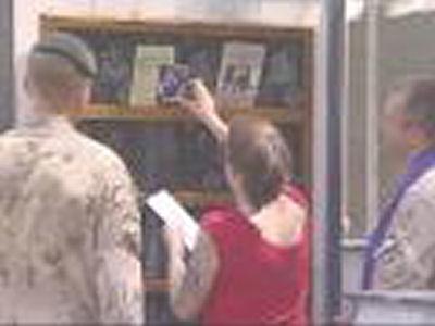 Family visit to memorial